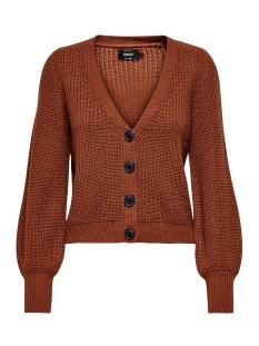 onlattilana l/s cardigan knt 15189230 only vest ginger bread