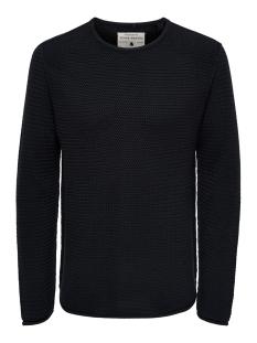 onstrough knit sl 3108 22013108 only & sons trui dark navy