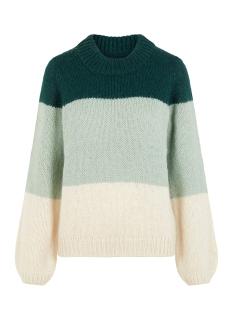 vmwine block ls o-neck blouse boo 10215804 vero moda trui ponderosa pine/w. jadeite