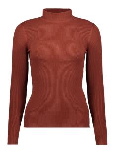 jdymaryan l/s high neck pullover knt 15179031 jacqueline de yong trui smoked paprika