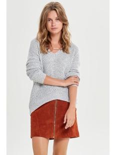 jdymegan l/s pullover knt noos 15161280 jacqueline de yong trui cloud dancer/w. black p