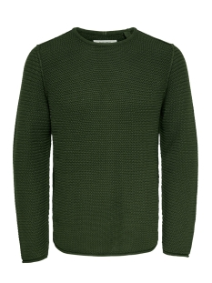onstrough knit sl 3108 22013108 only & sons trui forest night