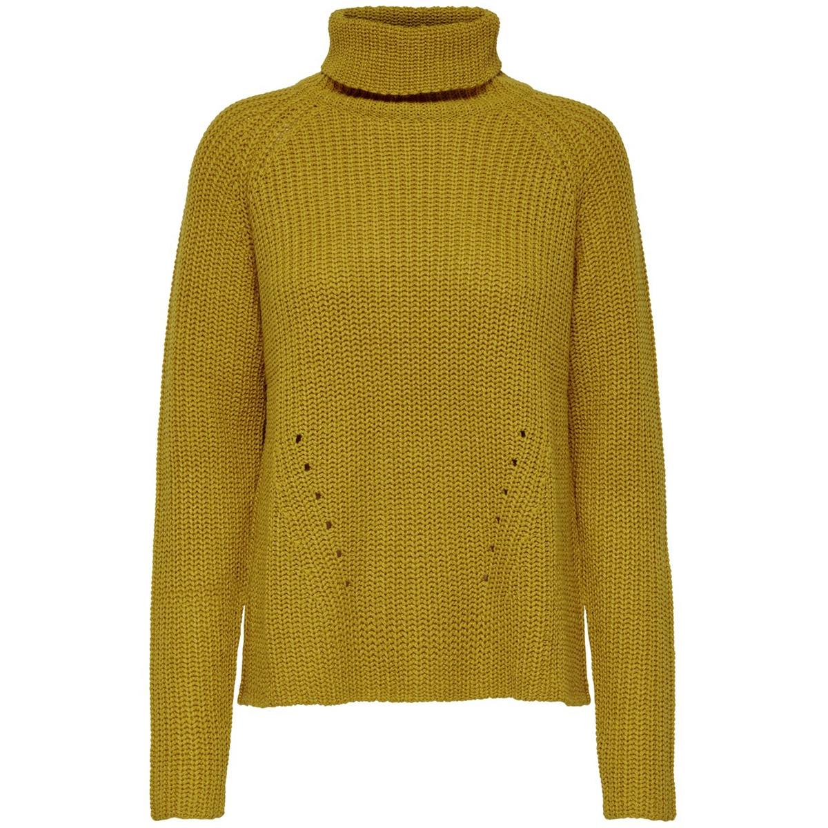 jdyjusty l/s high neck noos pullove 15154665 jacqueline de yong trui harvest gold