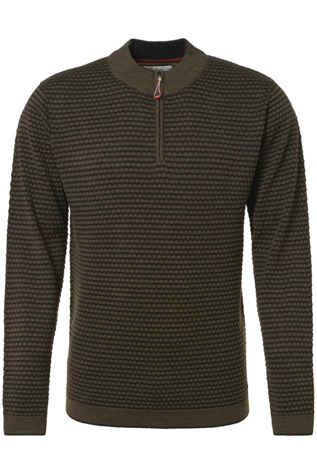 half zip jacquard pullover 92210928 no-excess trui 059