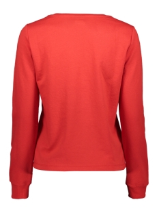 onlsana l/s o-neck swt 15205057 only sweater high risk red/eyelash