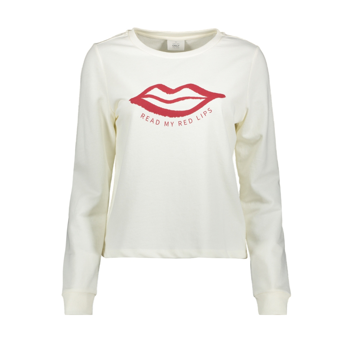 onlsana l/s o-neck swt 15205057 only sweater cloud dancer/lips