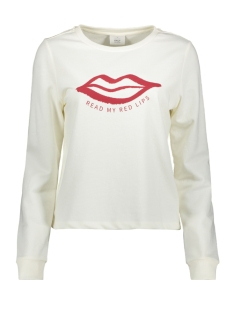 Only sweater ONLSANA L/S O-NECK SWT 15205057 Cloud Dancer/LIPS