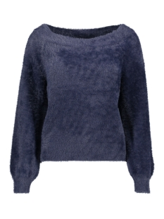 onlbisan l/s off shoulder  pullover 15183732 only trui night sky