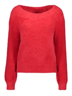 Only Trui ONLBISAN L/S OFF SHOULDER  PULLOVER 15183732 Chinese Red
