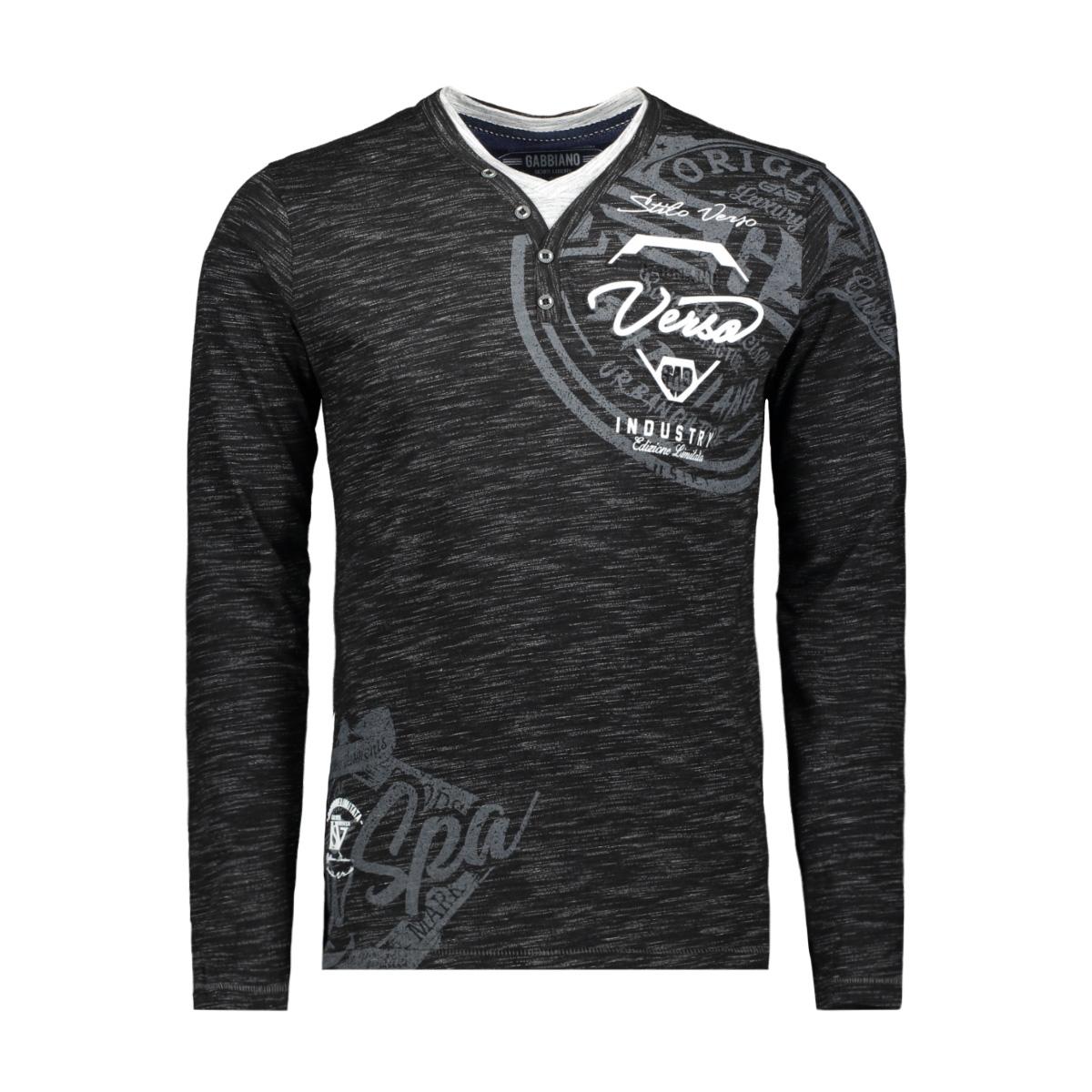 13855 gabbiano t-shirt black