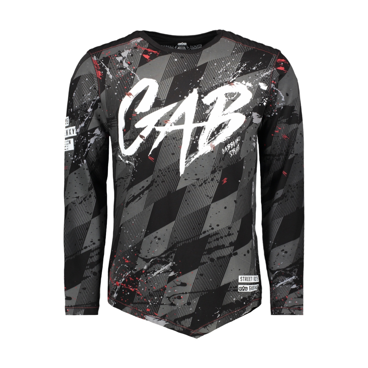 13852 gabbiano t-shirt black