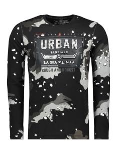 Gabbiano T-shirt T SHIRT ALLOVER PRINT EN TEKST 13858 BLACK