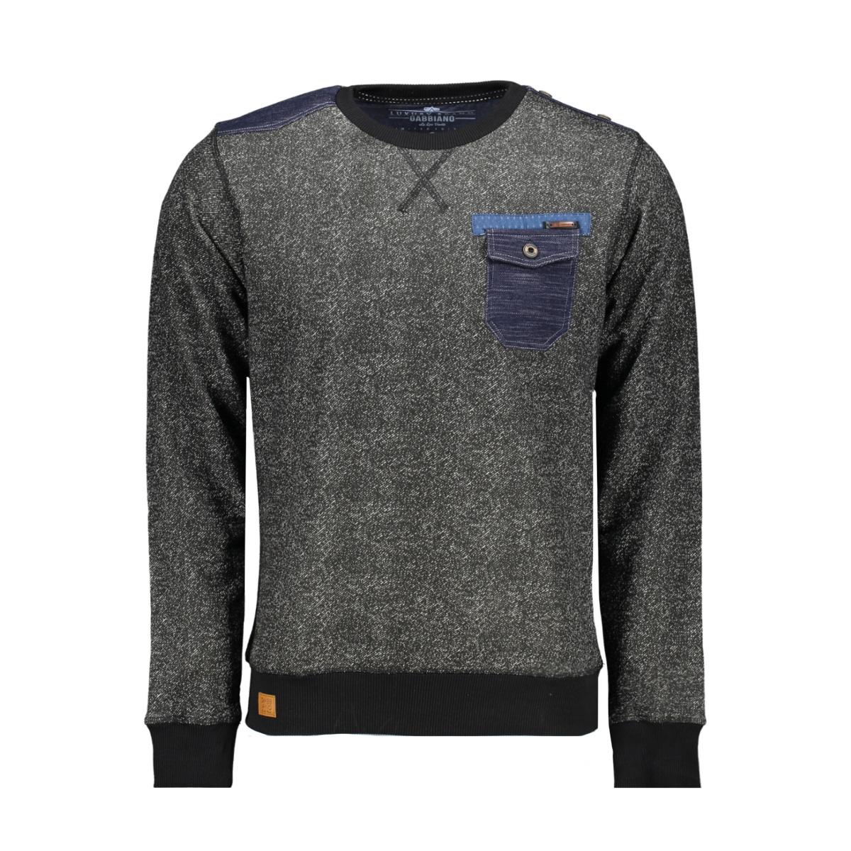 5405 gabbiano sweater zwart
