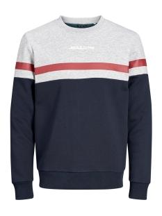 Jack & Jones sweater JORCAINE SWEAT CREW NECK 12161871 Light Grey Mela/SLIM
