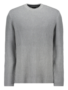 Only & Sons Trui ONSHANSEN 1,5 STRUC CREW NECK KNIT 22014431 Medium Grey Melange