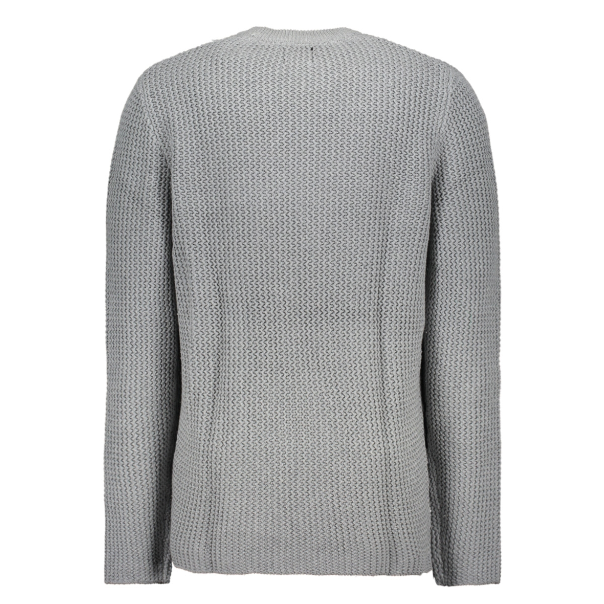 onshansen 1,5 struc crew neck knit 22014431 only & sons trui medium grey melange