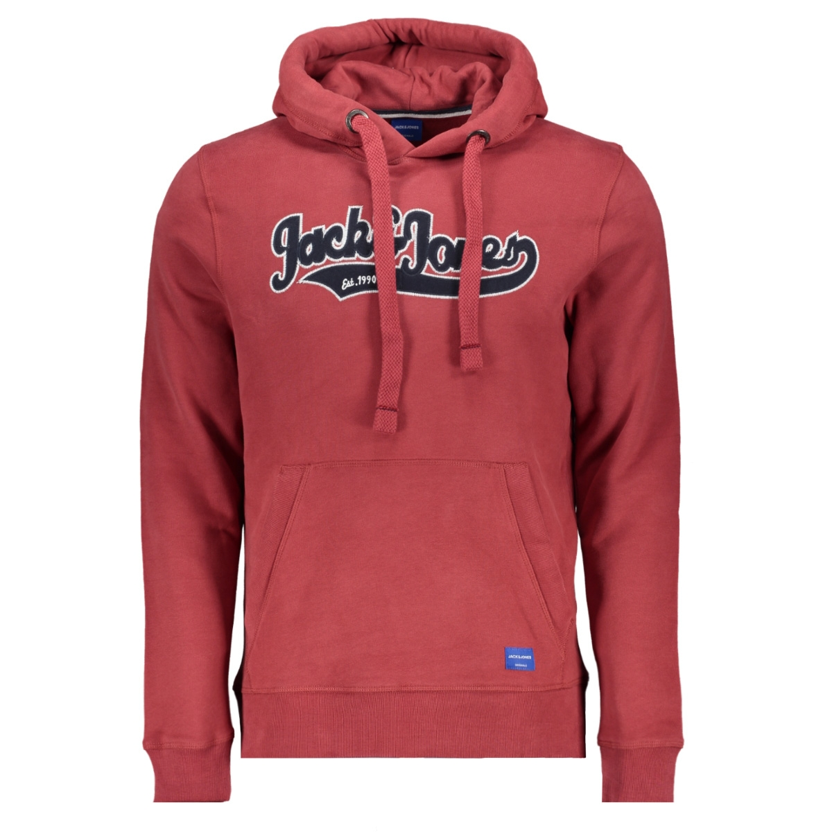 jorchuck sweat hood 12162151 jack & jones sweater brick red/reg