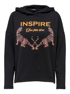 Only sweater ONLCLEMENTINE L/S HOOD JRS 15204699 Black/INSPIRE