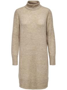Jacqueline de Yong Jurk JDYDEBBIE L/S ROLLNECK DRESS KNT 15179010 Beige/MELANGE