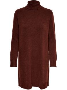 Jacqueline de Yong Jurk JDYDEBBIE L/S ROLLNECK DRESS KNT 15179010 Smoked Paprika/Melange