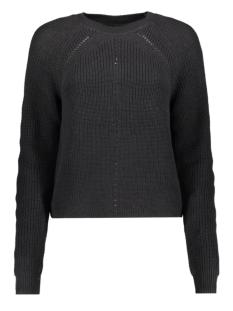 nmmaj l/s o-neck knit 7 bg 27010765 noisy may trui black