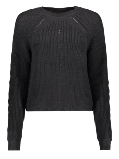 Noisy may Trui NMMAJ L/S O-NECK KNIT 7 BG 27010765 Black