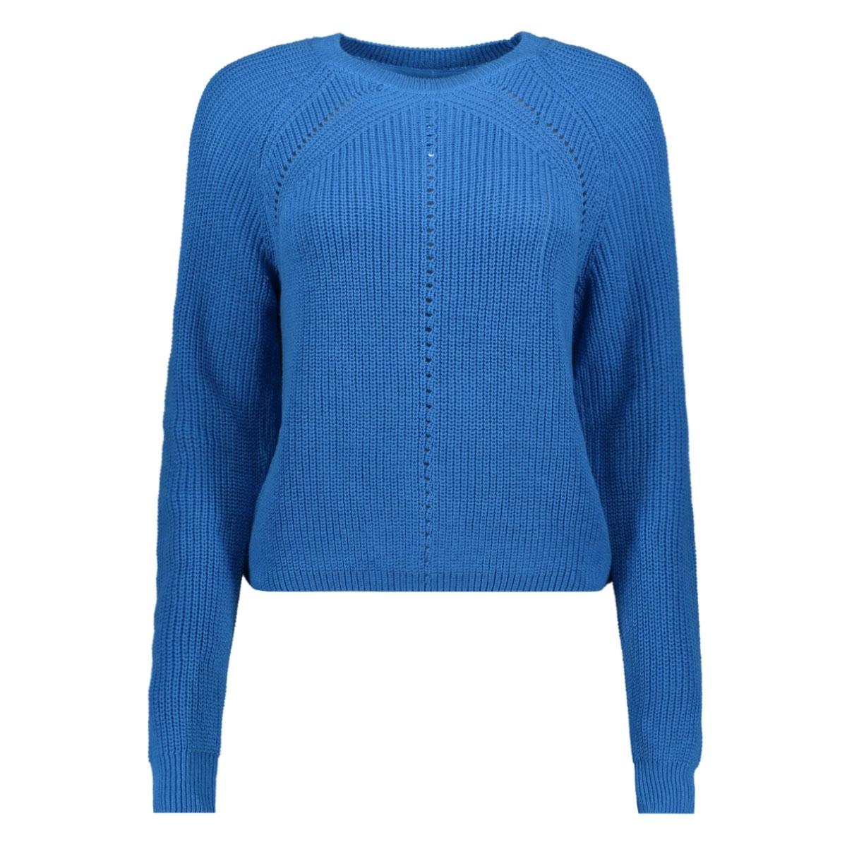 nmmaj l/s o-neck knit 7 bg 27010765 noisy may trui ibiza blue
