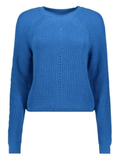 Noisy may Trui NMMAJ L/S O-NECK KNIT 7 BG 27010765 Ibiza Blue