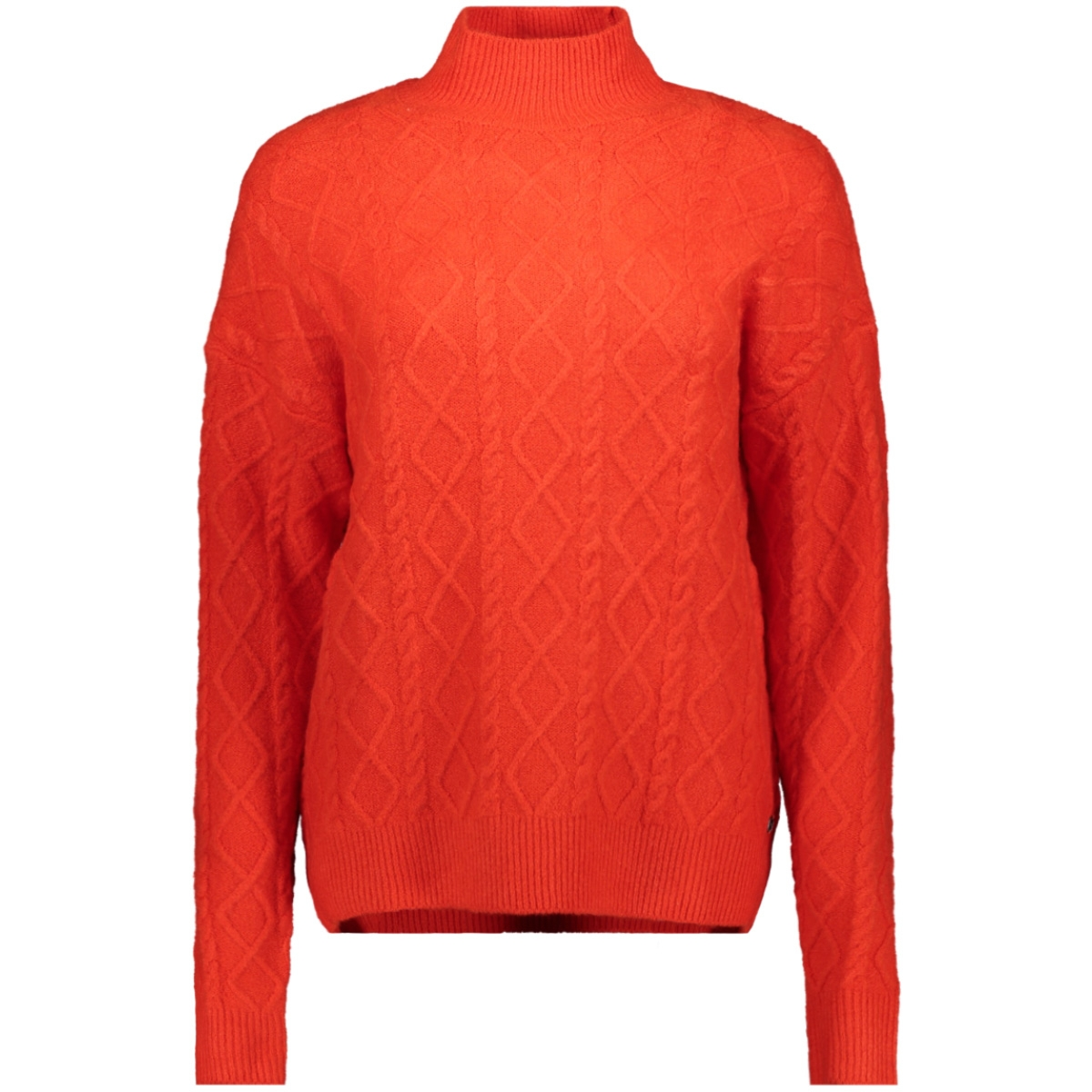 trui met cable knit j90248 garcia trui 1220 red orange