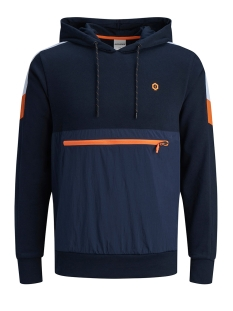 Jack & Jones sweater JCONEON LS SWEAT HOOD 12167533 Sky Captain/REG