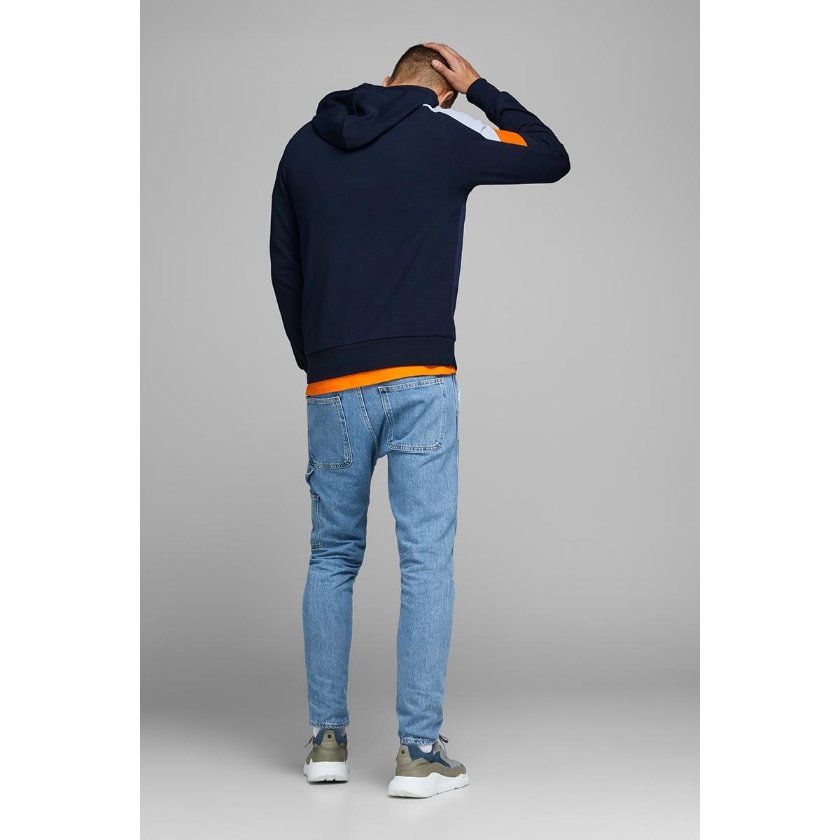 jconeon ls sweat hood 12167533 jack & jones sweater sky captain/reg