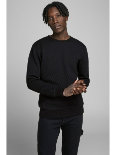 Jack & Jones sweater JCOBUTTON SWEAT CREW NECK 12162127 Black