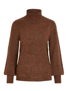 Vila Trui VIESHA KNIT ROLLNECK L/S TOP 14053649 Golden Oak/W. TOFFEE