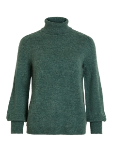 Vila Trui VIESHA KNIT ROLLNECK L/S TOP 14053649 Oil Blue/ w. Pine Gr