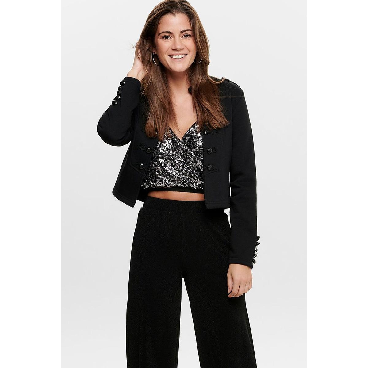 onlkinsley l/s blazer swt 15189236 only blazer black/black button