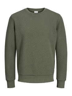 Jack & Jones sweater JCOBUTTON SWEAT CREW NECK 12162127 Forest Night