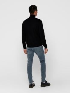 onsmikkel 12 high neck knit 22014110 only & sons trui black