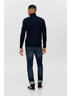 onsmikkel 12 high neck knit 22014110 only & sons trui dark navy