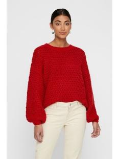 vmdatte  ls o-neck blouse boo 10215239 vero moda trui high risk red/w. black
