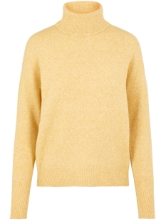vmdoffy ls rollneck blouse 10215521 vero moda trui amber gold/melange