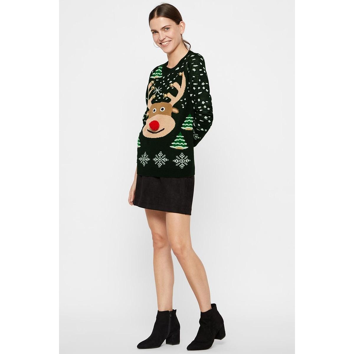 vmbell ls blouse nvl 10219212 vero moda trui ponderosa pine/w. silver