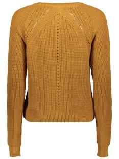 nmmaj l/s o-neck knit 7 bg 27010765 noisy may trui brown sugar