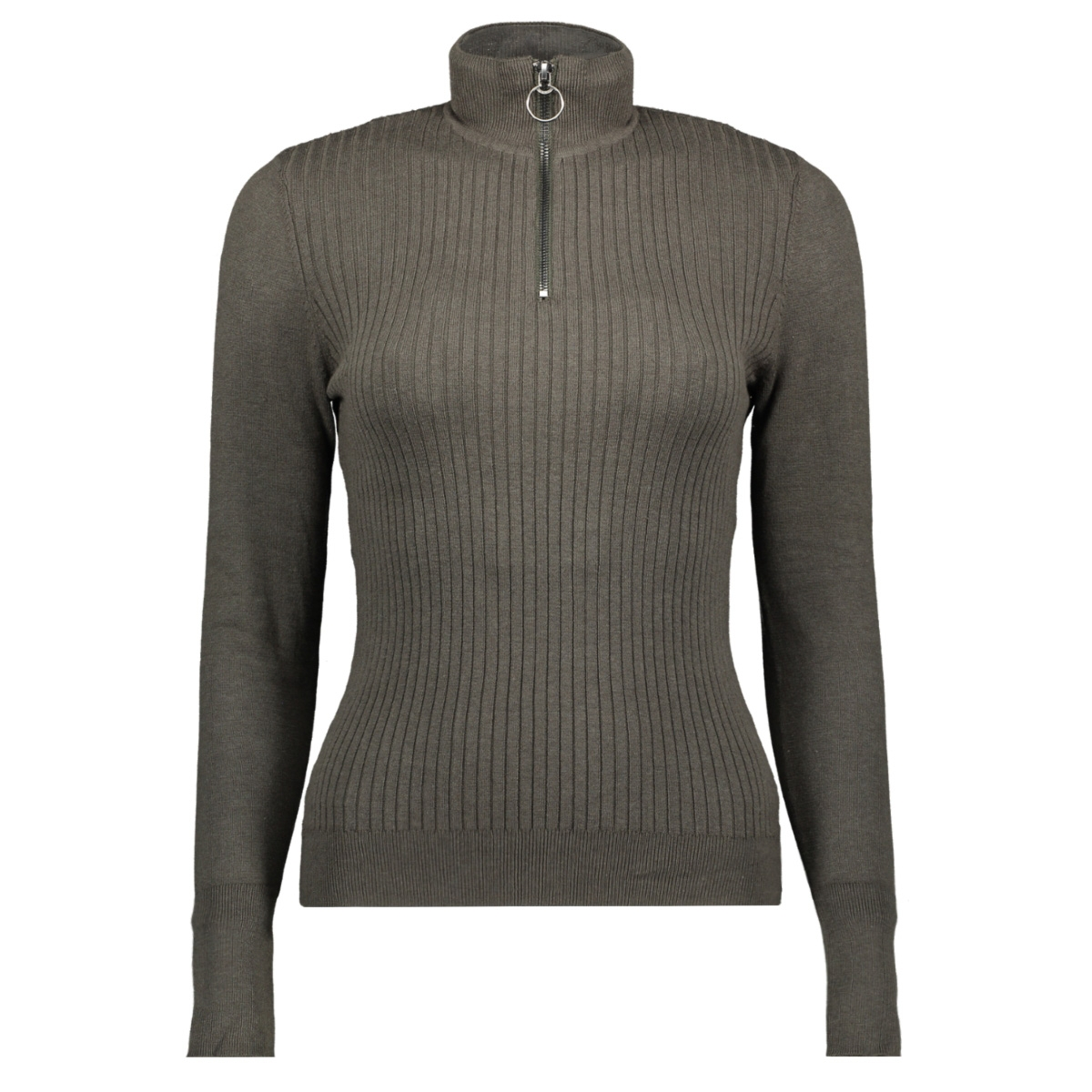 onltyra l/s highneck zip pullover k 15183815 only trui beluga