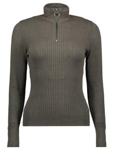onltyra l/s highneck zip pullover k 15183815 only t-shirt beluga