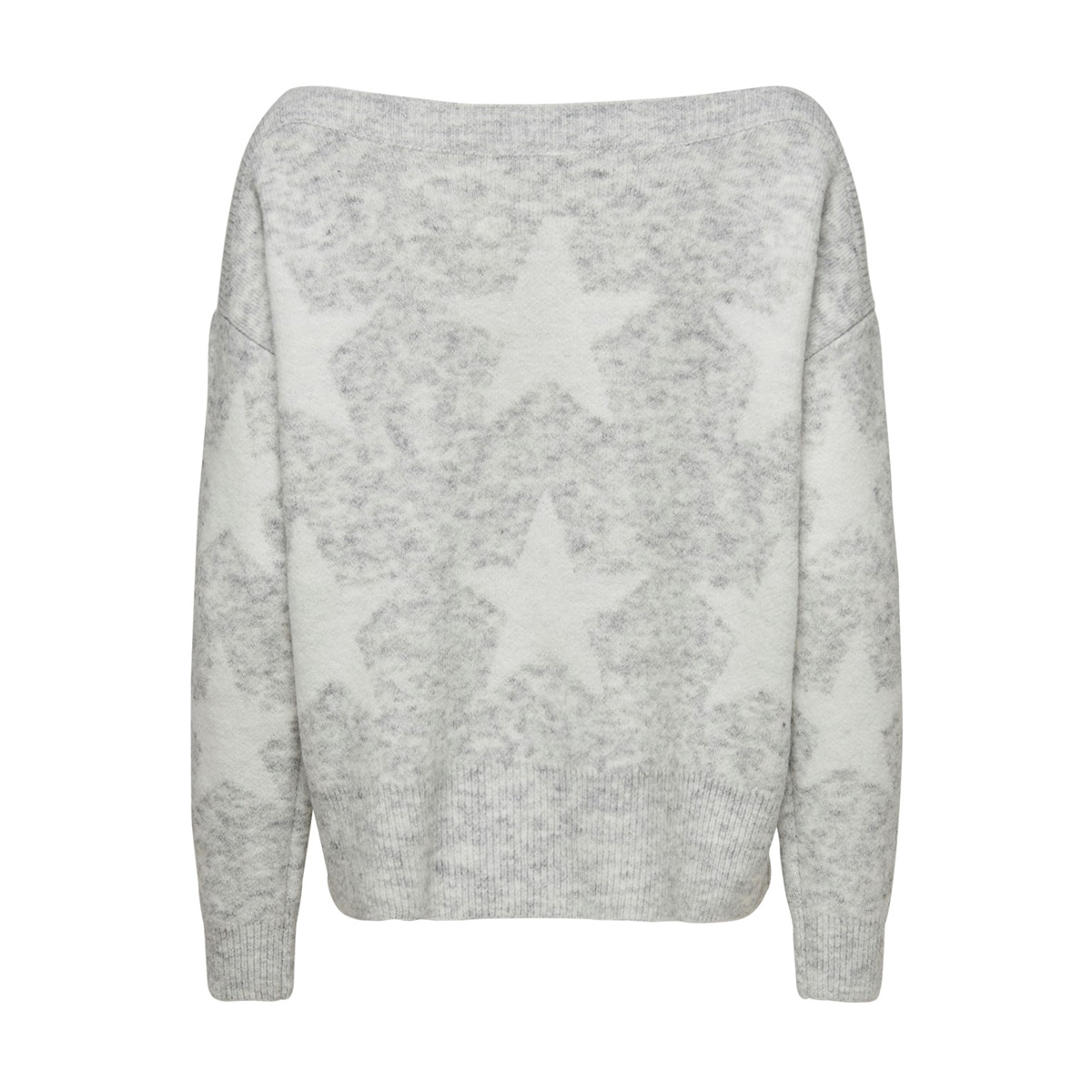 onlaurelie l/s pullover knt 15184470 only trui light grey melange/ cloud