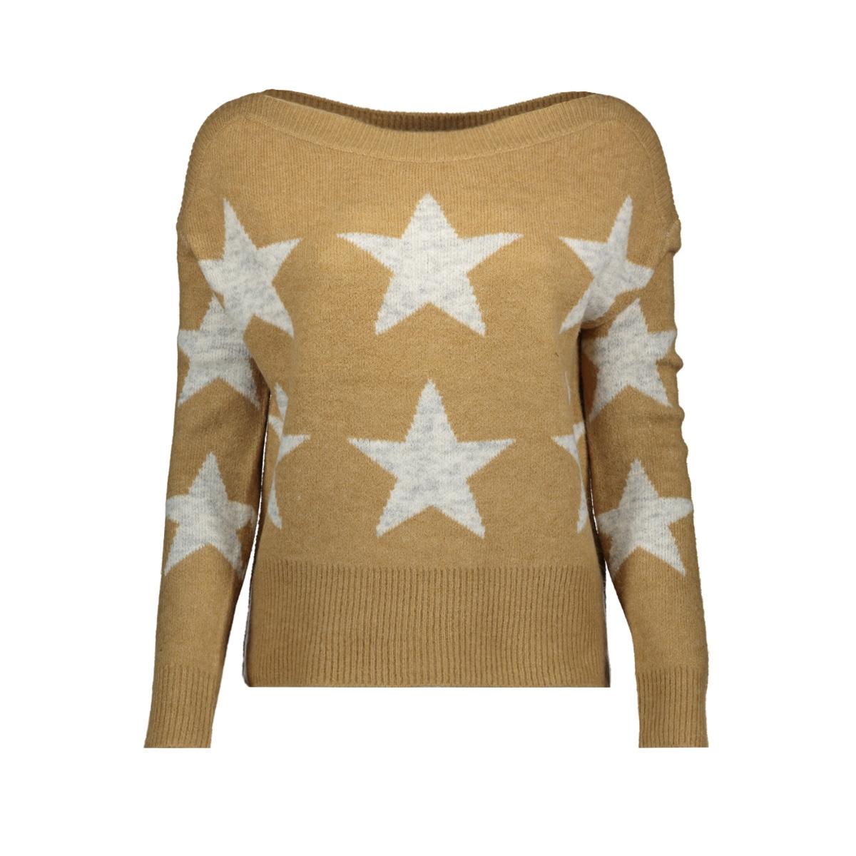 onlaurelie l/s pullover knt 15184470 only trui tannin lgm stars