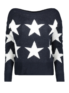 onlaurelie l/s pullover knt 15184470 only trui night sky