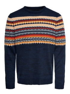 onsrammer 7 chest jaq knit 22015026 only & sons trui dark navy