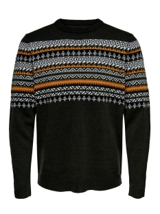 onsrammer 7 chest jaq knit 22015026 only & sons trui forest night