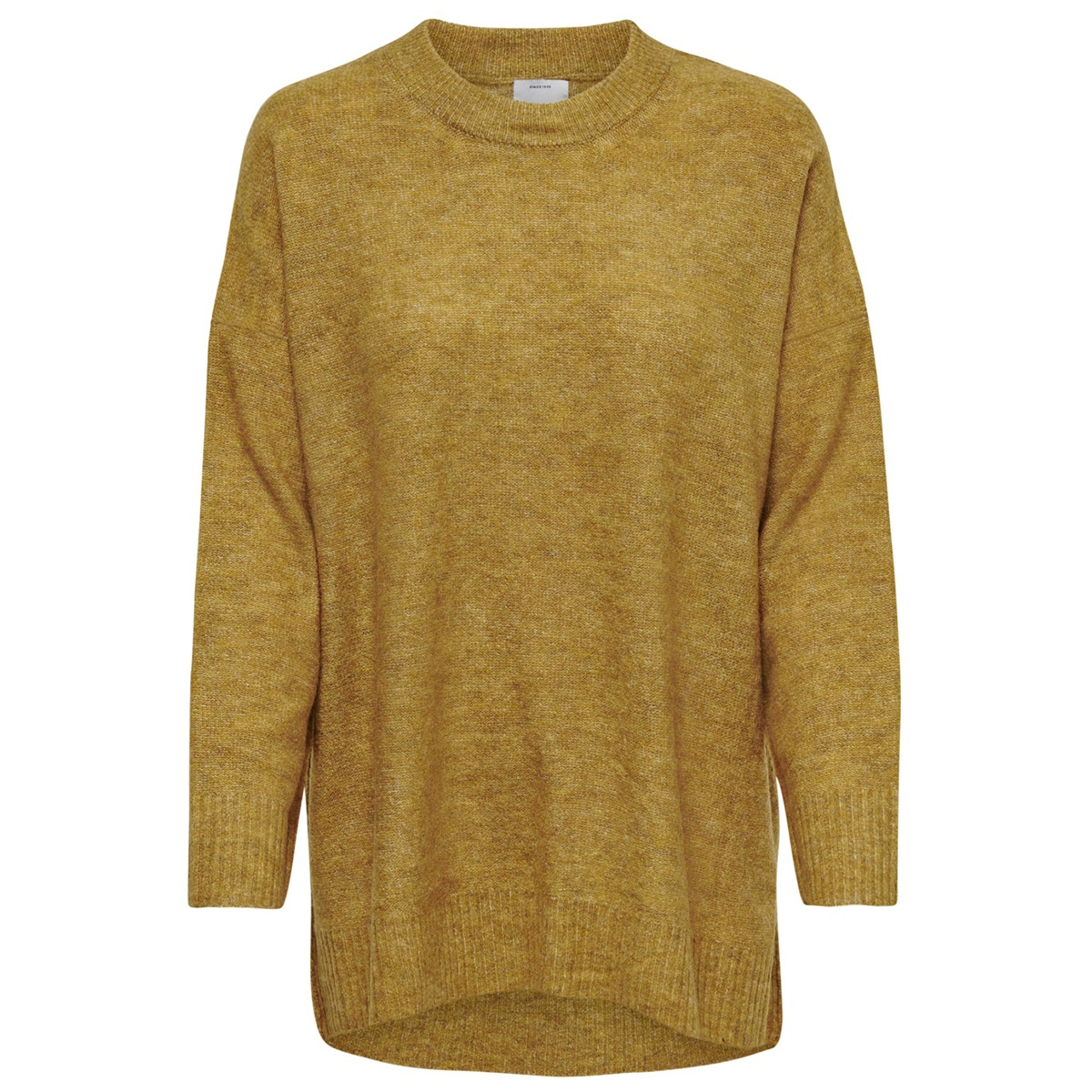 onlmirna l/s long pullover knt 15184001 only trui golden yellow